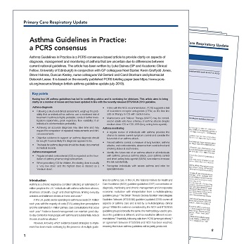 Asthma Guidelines in Practice Cover